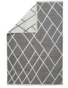 FLACHWEBETEPPICH - Weiß/Grau, Design, Textil (120/170cm) - Novel