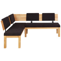 ECKBANK in Holz, Metall, Textil Buchefarben, Dunkelbraun - Dunkelbraun/Buchefarben, Natur, Holz/Textil (160/200cm) - Cantus