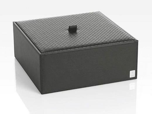 BOX MIT DECKEL - Schwarz, Design, Kunststoff (25/9,5/25cm) - Joop!
