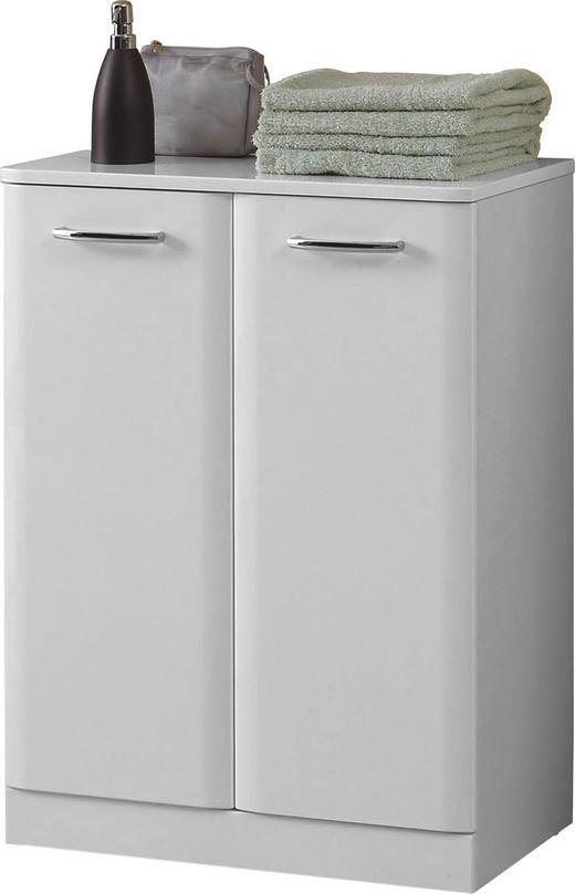 UNTERSCHRANK Weiß - Chromfarben/Weiß, Basics, Holzwerkstoff (60/82/32cm) - Carryhome