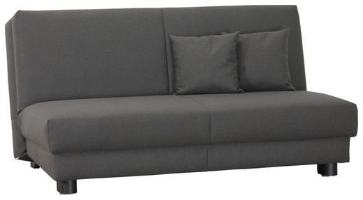 SCHLAFSOFA Webstoff Dunkelgrau - Dunkelgrau/Schwarz, Design, Textil/Metall (160/85/100cm) - Carryhome
