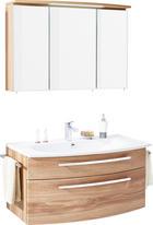 KOUPELNA - bílá/barvy dubu, Design, dřevěný materiál/sklo (100cm) - NOVEL