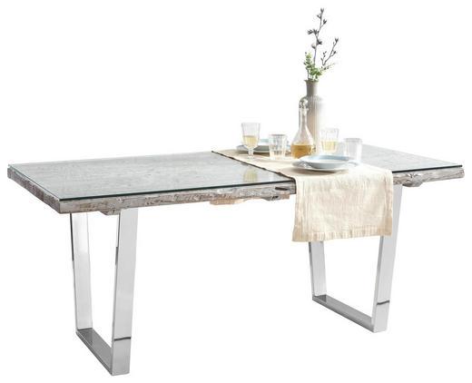 Esstisch aus glas oder holz  ESSTISCH Recyclingholz massiv rechteckig Edelstahlfarben, Grau ...