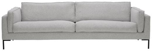 SOFA in Textil Grau - Schwarz/Grau, Design, Textil/Metall (269/86/96cm) - Lomoco