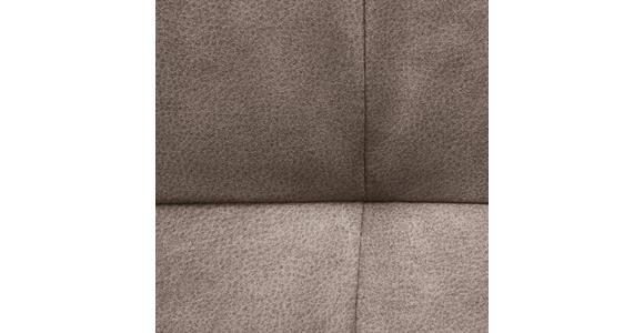 ECKBANK in Metall, Textil Braun, Schwarz - Schwarz/Braun, Design, Textil/Metall (170/210cm) - Hom`in