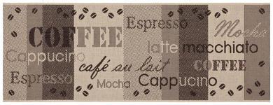 Läufer Coffee 80x200 cm - Beige/Braun, Basics, Textil (80/200cm) - Ombra