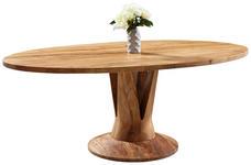 ESSTISCH Akazie massiv oval Akaziefarben - Akaziefarben, Trend, Holz (200/115/76cm) - Venda