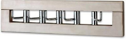 GARDEROBENLEISTE Chromfarben, Edelstahlfarben - Chromfarben/Edelstahlfarben, MODERN, Metall (50/13/10cm) - Carryhome