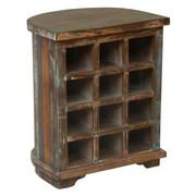 WEINREGAL Recyclingholz massiv Braun - Braun, Trend, Holz (50/60/40cm) - Carryhome