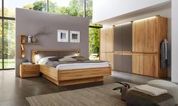 SCHLAFZIMMER Braun, Buchefarben  - Buchefarben/Braun, Design, Holz (180/200cm) - Valnatura