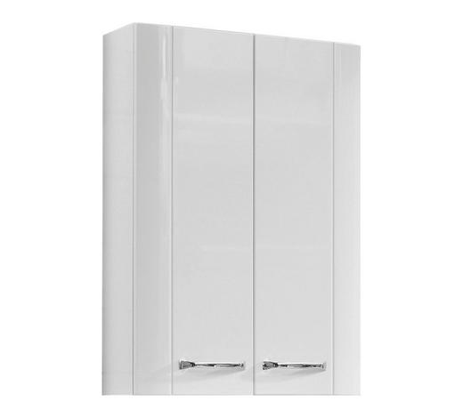 OBERSCHRANK Weiß  - Chromfarben/Weiß, KONVENTIONELL, Glas/Holzwerkstoff (50/73/18cm) - Xora