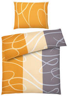 BETTWÄSCHE 140/200 cm - Grau/Honig, Design, Textil (140/200cm) - BOXXX