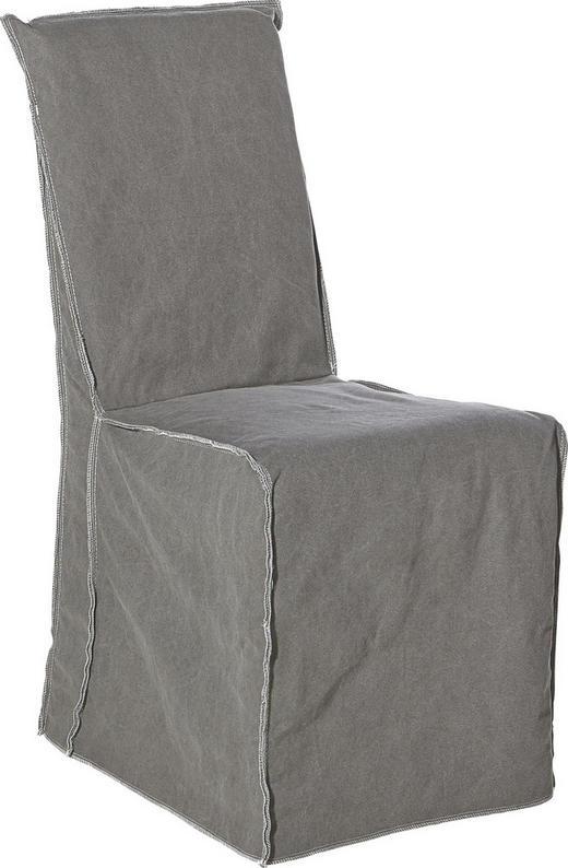 STUHL Buche massiv Anthrazit - Anthrazit, Trend, Holz/Textil (50/96/60cm) - Ambia Home