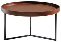 COUCHTISCH in Holz, Metall, Holzwerkstoff 78/78/42 cm   - Walnussfarben/Schwarz, Trend, Holz/Holzwerkstoff (78/78/42cm) - Carryhome