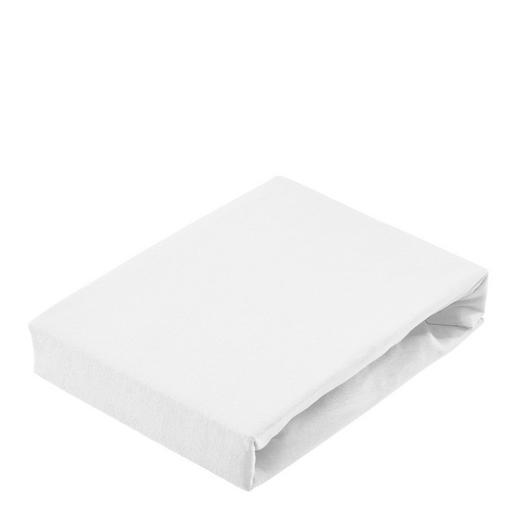SPANNBETTTUCH Jersey Weiß - Weiß, Basics, Textil (150/200cm) - Bio:Vio