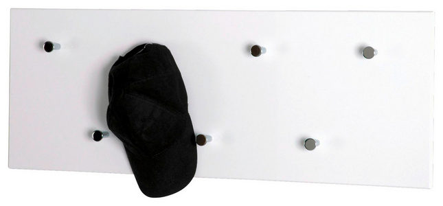 ZIDNI ČIVILUK - Boje hroma/Bela, Dizajnerski, Drvo/Metal (80/30/5,5cm) - Boxxx