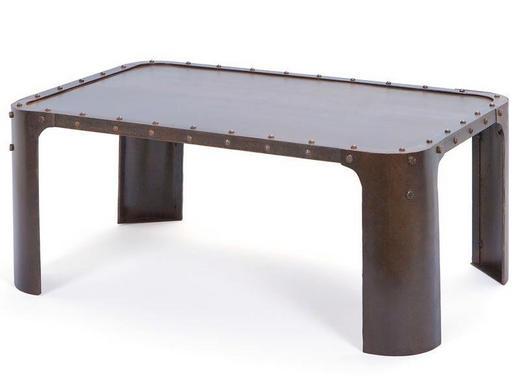 COUCHTISCH Rostfarben - Rostfarben, Design, Metall (110/45/70cm) - Carryhome