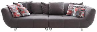 BIGSOFA in Textil Anthrazit, Multicolor - Chromfarben/Anthrazit, Design, Kunststoff/Textil (300/87/133cm) - Hom`in