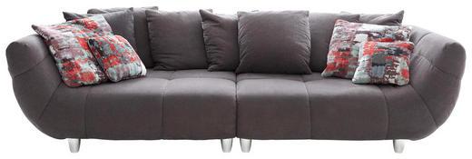BIGSOFA Mikrofaser Anthrazit, Multicolor - Chromfarben/Anthrazit, Design, Kunststoff/Textil (300/87/133cm) - Hom`in