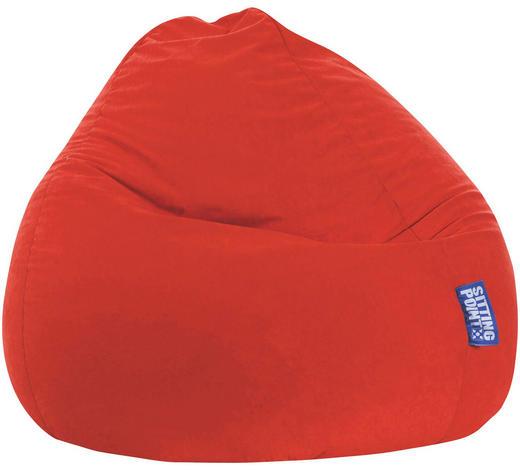 SITZSACK Mikrofaser Rot  - Rot, Design, Textil (80/130/80cm) - Carryhome