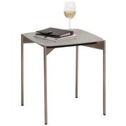 BEISTELLTISCH in Edelstahlfarben, Grau - Edelstahlfarben/Grau, Design, Keramik/Metall (43/43/49cm) - Venjakob