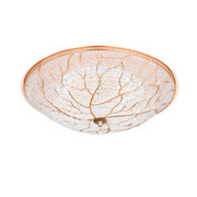STROPNA LED SVETILKA, Ø 48 CM - zlata, Trendi, kovina/umetna masa (48/14cm)