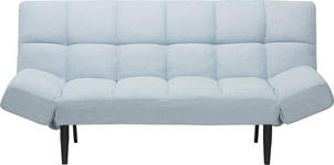 SCHLAFSOFA in Holz, Metall, Textil Blau, Grau, Schwarz - Blau/Schwarz, Design, Holz/Textil (182,50/89/85cm) - Xora