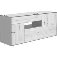 SIDEBOARD - Buchefarben/Grau, Natur, Holz/Holzwerkstoff (158,1/70,6/46cm) - Anrei