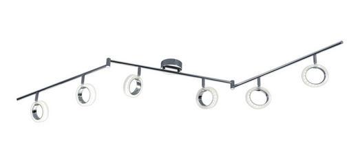 LED-DECKENLEUCHTE - Chromfarben/Weiß, MODERN, Kunststoff/Metall (180/20/9,5cm)