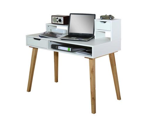 Schreibtisch Eiche Massiv schreibtisch eiche massiv eichefarben, weiß online kaufen ➤ xxxlutz