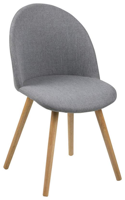 STUHL Hellgrau - Eichefarben/Hellgrau, Design, Holz/Textil (49/83,5/54,5cm) - Carryhome