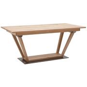 Esstisch in furniert, mehrschichtige Massivholzplatte (Tischlerplatte) Wildeiche Eichefarben - Eichefarben, Natur, Holz/Metall (180/100/76,5cm) - Voglauer