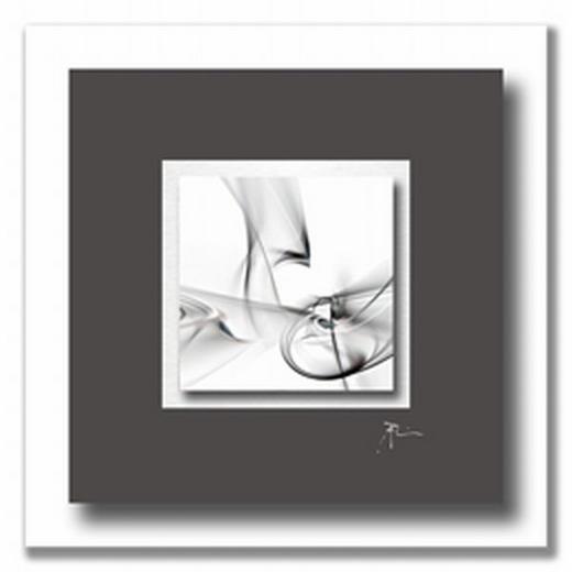 Abstraktes ACRYLGLASBILD - Anthrazit/Alufarben, Design, Holzwerkstoff/Kunststoff (50/50cm) - Wiedemann
