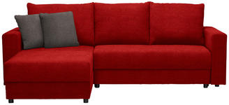 WOHNLANDSCHAFT in Textil Hellbraun, Rot - Hellbraun/Rot, Design, Kunststoff/Textil (176/246cm) - Xora