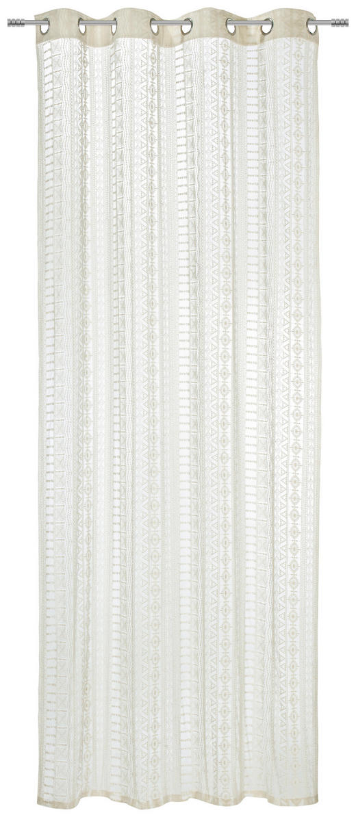 ÖSENSCHAL  transparent  125/245 cm - Naturfarben, LIFESTYLE, Textil (125/245cm) - Landscape