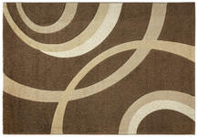 Webteppich Curvy 120x170 cm - Braun, KONVENTIONELL, Textil (120/170cm) - Ombra