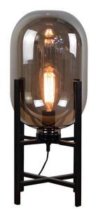 TISCHLEUCHTE - Schwarz, Design, Glas/Metall (37,5/50cm) - DIETER KNOLL