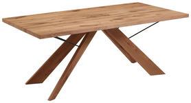 ESSTISCH Kerneiche vollmassiv rechteckig Anthrazit, Eichefarben  - Eichefarben/Anthrazit, Natur, Holz/Metall (190/95/76cm) - Valnatura