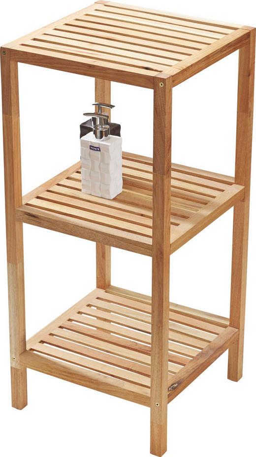 BADEZIMMERREGAL Holz Walnuss massiv Nussbaumfarben - Nussbaumfarben, Design, Holz (36/79/36cm)