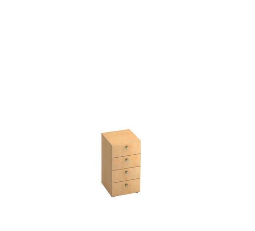 ANSTELLCONTAINER - Ahornfarben/Alufarben, KONVENTIONELL, Holzwerkstoff/Metall (40/74.8/42cm)