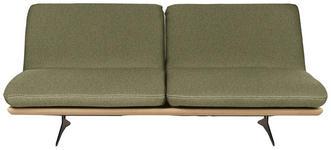 SCHLAFSOFA Grün - Beige/Schwarz, Design, Holz/Textil (204/92/90cm) - Dieter Knoll