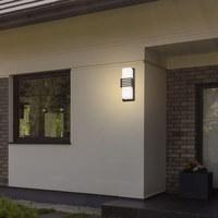 ZUNANJA LED-SVETILKA - bela/antracit, Moderno, kovina/umetna masa (12/30cm)