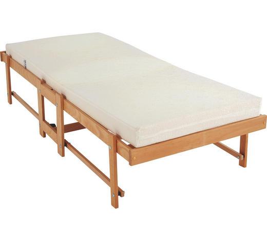 KLAPPBETT in Holz, Textil Buchefarben  - Buchefarben, Basics, Holz/Textil (80/190cm)