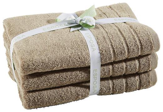FROTTIERSET 50/100 cm 3-teilig - Taupe, Basics, Textil (50/100cm) - Esposa