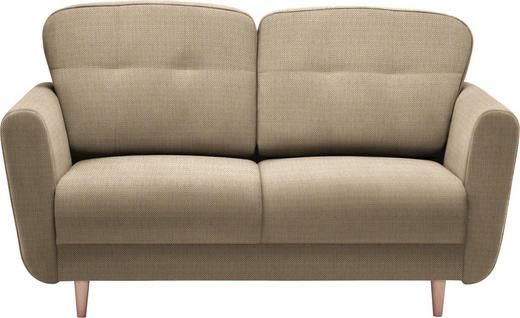 ZWEISITZER-SOFA in Textil Beige - Beige, Design, Holz/Textil (154/90/93cm) - Hom`in