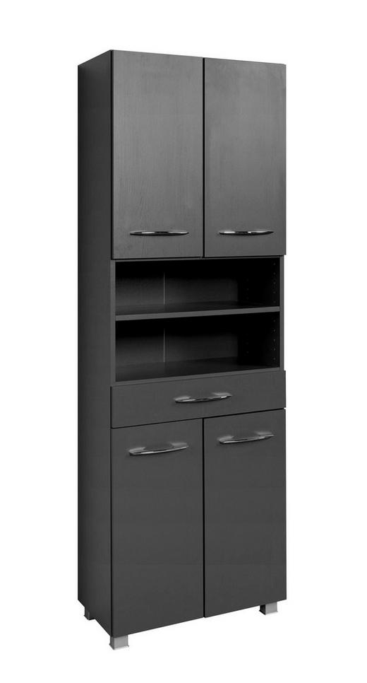 SEITENSCHRANK Graphitfarben - Silberfarben/Graphitfarben, Design, Holzwerkstoff/Kunststoff (60/185/35cm) - Carryhome