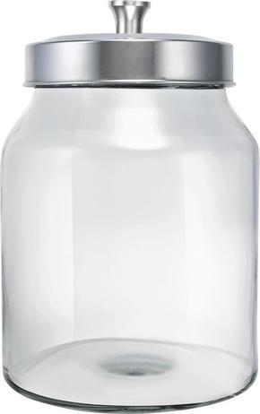 FÖRVARINGSBURK - klar/rostfritt stål-färgad, Basics, metall/glas (16/23cm) - Homeware