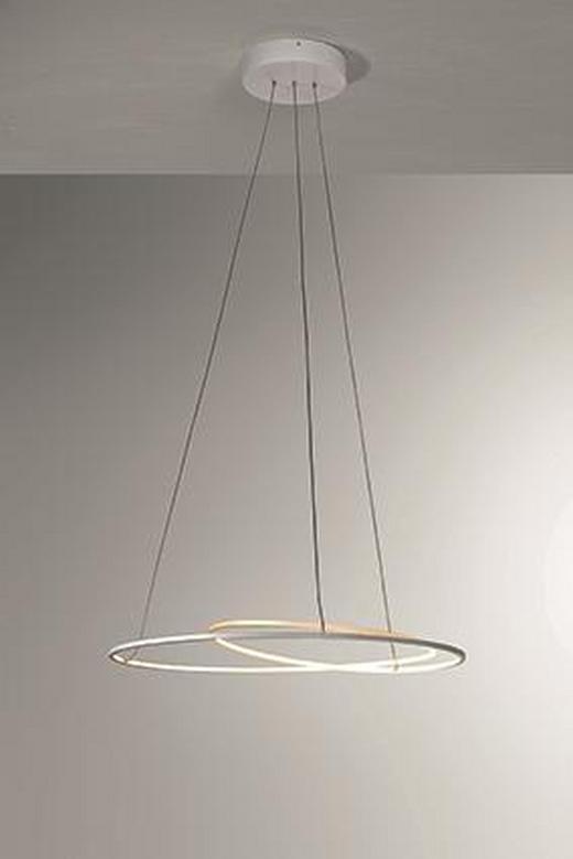 LED-HÄNGELEUCHTE - Weiß, Design, Metall (45/140cm)