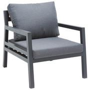 LOUNGESESSEL - Dunkelgrau/Anthrazit, MODERN, Textil/Metall (68/70/79cm) - Amatio