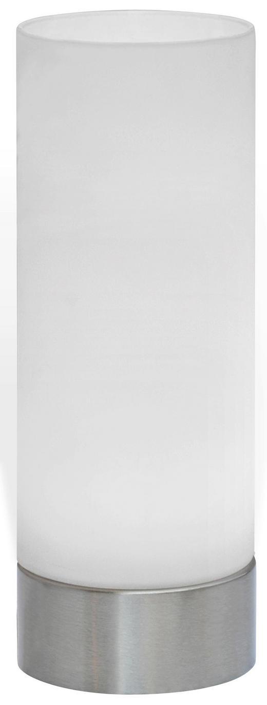 LED-TISCHLEUCHTE - Nickelfarben, KONVENTIONELL, Glas/Metall (21,5/8cm) - Boxxx
